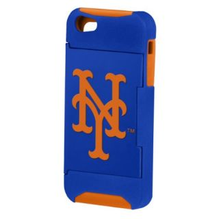 Forever Collectibles MLB Hideaway Credit Card iPhone 5 Hard Case - Retail Packaging - New York Mets