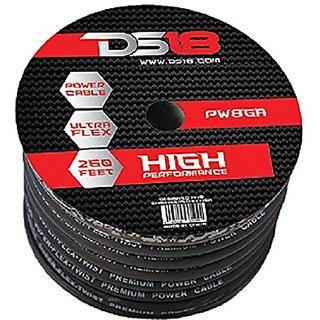 DS18 PW-8GA-250BK 250-Feet 8-Gauge Ultra Flex Power Cable (Black)