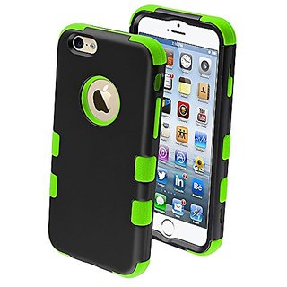 MYBAT Rubberized Tuff Hybrid Protector Case for iPhone 6 - Retail Packaging - Green/Black