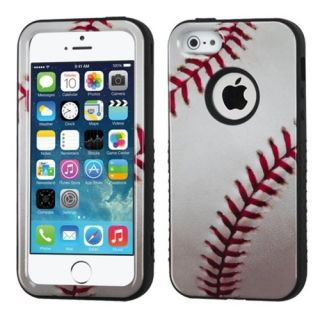 MyBat Hybrid Protector Cover for Apple iPhone 5S/5 - Retail Packaging - Baseball-Sports Collection/Black Verge