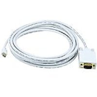 Monoprice 106005 15-Feet 32AWG Mini Display Port To VGA Cable - White