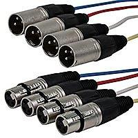 Monoprice 108766 15-Feet 4-Channel XLR Male-Inch XLR Female Snake Cable
