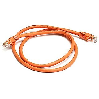 Monoprice 3FT 24AWG Cat6 550MHz UTP Ethernet Bare Copper Network Cable - Orange