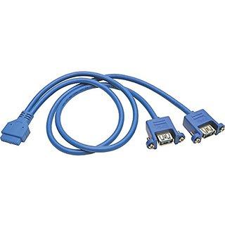 TRIPP LITE USB 3.0 2-Port Panel Adapter 20 Pin Motherboard IDC 2x USB-A 18