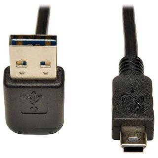 TRIPP LITE USB 2.0 Universal Reversible Device Cable A to 5-Pin Mini-B (UR030-006-UDA)