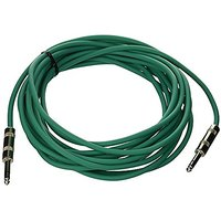 Seismic Audio - SATRX-25Green - 25 Foot Green 1/4 TRS Patch Cable - Balanced Cord - Effects