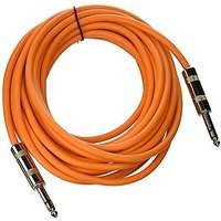 Seismic Audio - SATRX-25Orange - 25 Foot Orange 1/4 TRS Patch Cable - Balanced Cord - Effects