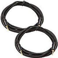 Seismic Audio SA-iE10-2Pack 6-Inches Stage And Studio Patch Cable