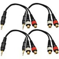 Seismic Audio SA-iEM2TRSF-4Pack 6-Inches Stage And Studio Patch Cable