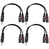 Seismic Audio SA-iEM2EF-4Pack 6-Inches Stage And Studio Patch Cable