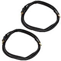 Seismic Audio SA-iE6-2Pack 6-Inches Stage And Studio Patch Cable