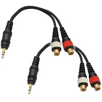 Seismic Audio SA-iEM2TRSF-2Pack 6-Inches Stage And Studio Patch Cable
