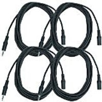 Seismic Audio SA-iMF12-4Pack 6-Inches Stage And Studio Patch Cable