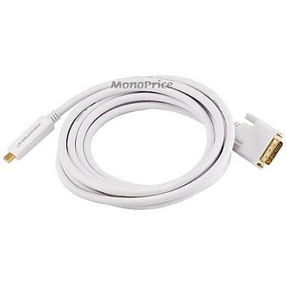 Monoprice 15ft 32AWG Mini DisplayPort to DVI Cable - White