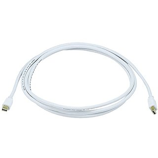 Monoprice 6ft 32AWG Mini DisplayPort Cable - White