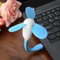 USB Flexible 3 Wings Blades Fan Powered By Laptop Desktop Mobile Powerbank Multi Colour