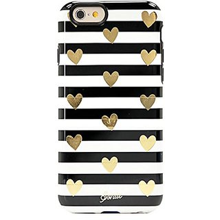 Sonix iPhone 6 Case - Carrying Case - Retail Packaging - Heart Stripe Gold