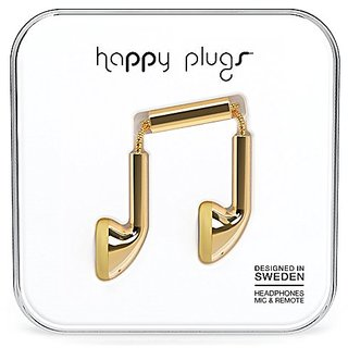 Happy Plugs 7727 Earbuds Gold