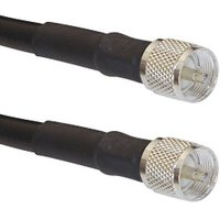 Times Microwave LMR-400-uhf-2 VHF HF Coax Cable Jumper PL-259 Connectors (2-Feet)