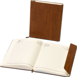 WORLDSTAR 2017 New Year Diary Hardbound, Brown Color, 1 Day for 1 Page, Smooth pages