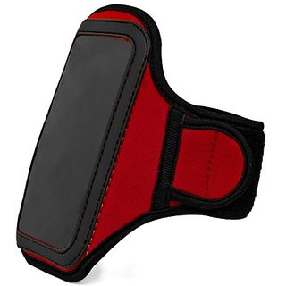 Vangoddy Neoprene Armband Case for Smartphones - Retail Packaging - Red