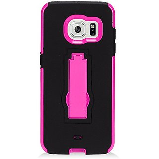 Eagle Cell Hybrid Armor Phone Case for Samsung Galaxy S7 Edge G935 - Retail Packaging - Hot Pink/Black