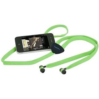 Hi-Fun HFHiSTRING-GRN Hi-String Shoe-Lace Earbuds - Speakers - Retail Packaging - Green
