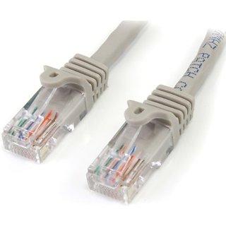 StarTech.com Gray Snagless RJ45 UTP Cat 5e Patch Cable - 6 Feet (45PATCH6GR)