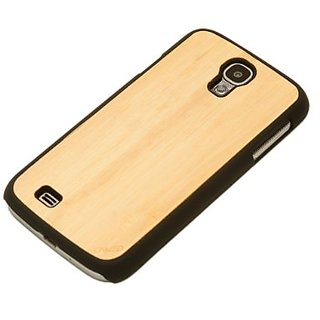 CARVED Matte Black Wood Case for Samsung Galaxy S4 - Natural Bamboo (S4-BC1A)