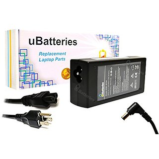 UBatteries Laptop AC Adapter Charger Sony VAIO VPCEA36FX/T VPCEA36FX/V VPCEA36FX/W VPCEA36FX/WI VPCEA37FX VPCEA37FX/B VP