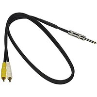"Mr. Dj CDQR3 Dual 1/4"" Mono To Dual RCA Male Speaker Cable (3 Feet)"