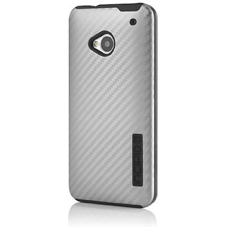 Incipio HT-359 DualPro Carbon Fiber Case for HTC One - 1 Pack - Retail Packaging - Silver/Black