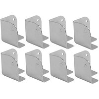 Seismic Audio SACR914-8Pack Of Silver Metal Corners For Front Of PA/DJ Speaker Cabinets