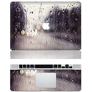 Vati Leaves Removable Rain Protective Full Cover Vinyl Art Skin Decal Sticker Cover for Apple MacBook Pro Retina 13.3