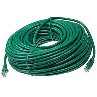 NTW 100 Cat6 Snagless Unshielded (UTP) RJ45 Ethernet Network Patch Cable - Green - 345-U6-100GN