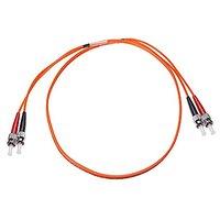 NTW NL-ST/ST-03MD5R ST/ST Multimode Duplex 50/125 Optical Fiber Nonconductive Riser Jumper Cable OM2