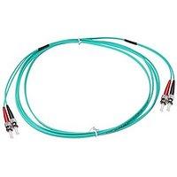 NTW NL-ST/ST-1040R ST/ST OM4 Multimode Duplex 50/125 Optical Fiber Nonconductive Riser Jumper Cable