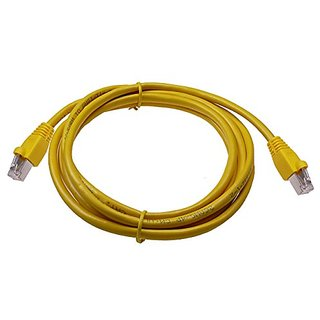 NTW 7 Cat6a Snagless Shielded (STP) RJ45 Ethernet Network Patch Cable - Yellow