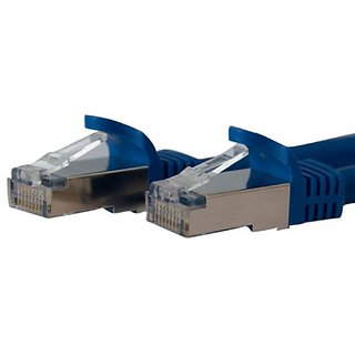 StarTech.com 1 ft Blue Shielded Snagless 10 Gigabit RJ45 STP Cat6a Patch Cable - 1ft Cat 6a Patch Cord - 10Gb Ethernet P