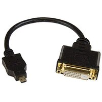 StarTech.com 8in Micro HDMI To DVI-D Adapter M/F - 8in Micro HDMI To DVI Cable - Connect A Micro HDMI Phone Or Laptop To