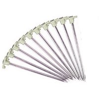 Set Of 10 Glow In The Dark Non-Rust Galvanized Steel Tent Peg Stakes,