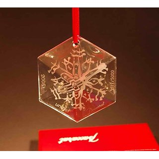Baccarat Crystal 2005 Unicef Chrstmas Snowflake Ornment