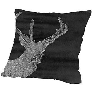 American Flat Charcoal Deer, Urban Road Pillow by Urban Road, 20