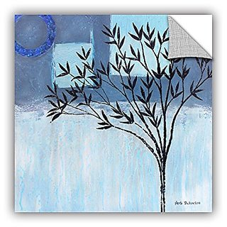 ArtWall Herb Dickinsons Ashley Day Blue Art Appeelz Removable Graphic Wall Art, 36 x 36