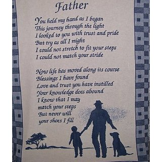 Tapestry Throw Father You Held My Hand