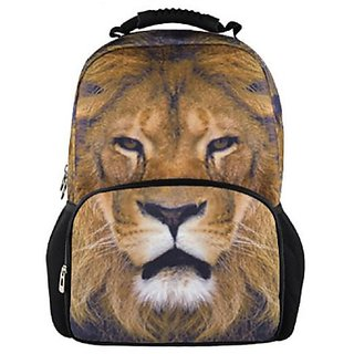 Animal FaceTM 3D Lion Backpack 3D Deep Stereographic Felt Fabric