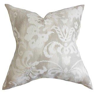 The Pillow Collection Ashira Floral Pillow, Neutral