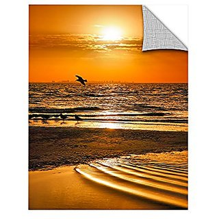 ArtWall Steve Ainsworths Sanibel Sunrise III Art Appeelz Removable Graphic Wall Art, 36 x 48