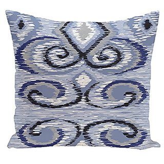 E By Design Ikats Meow Geometric Print Pillow, 20-Inch Length, Dust