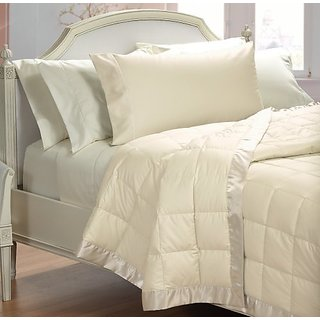 Cuddledown 400 Thread Count Over Size Synthetic Blanket, Twin, Ivory